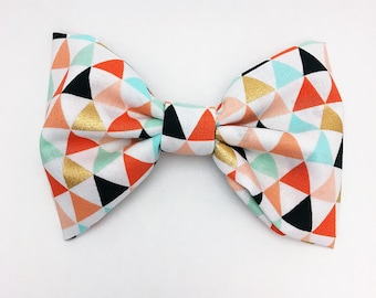 Pastel Triangles Bow