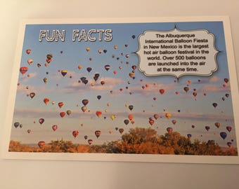 Fun Facts Postcard