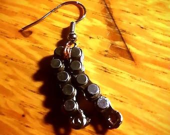 Mini bike chain earring