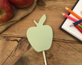 An Apple A Day Chocolate Lolly