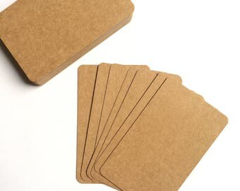 10 x kraft paper cards 9 x 5.3 cm