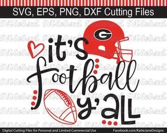 Georgia Bulldogs svg, Georgia svg, GA Football svg, Its Football Yall, GA Bulldog svg, SVG, Png, Eps, Dxf, Silhouette Cutting Files