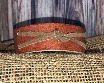 Genuine Leather Knotted Wrist Cuff