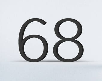 Flat Cut Acrylic House Numbers - Gotham Light