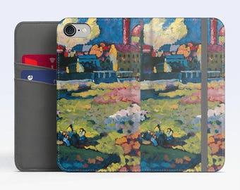 """Vasily Kandinsky, """"Munich-Schwabing..."""". iPhone 7 Wallet case iPhone 6 Wallet Case  iPhone 8 Plus Wallet case. Samsung Wallet cases."""
