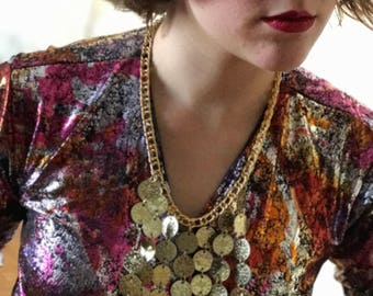 Column Bellydance Coin Necklace