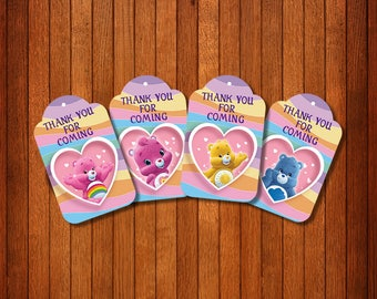 Care Bears Gift Tags, Care Bears Thank You Tags, Party Favors, Care Bears Birthday, Favor Tags Care Bears, Care Bears Tags,Bears | CARE_FULL