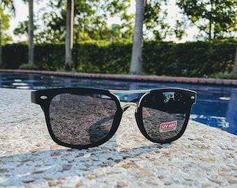 Black & Gold Wayfarer / Rayban Style Sunglasses