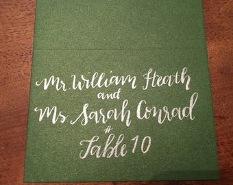 Custom Calligraphy Wedding Placecards