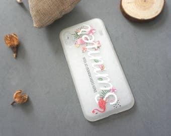 Flower iPhone X case, iPhone x case, iPhone x cover, Cute iPhone x case, Pink iphone x case