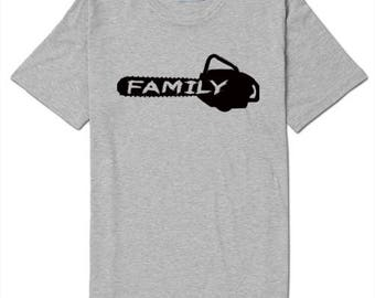 Saw is Family Texas Chainsaw Massacre T Shirt Clothes Many Sizes Colors Custom Horror Halloween Merch Massacre