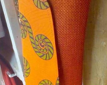 Orange African clutch bag,jute bag,kenyan bag,Masai jute bag,say thank-you,girlfriend gift.