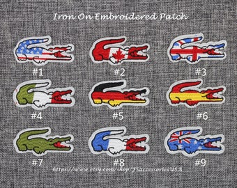 Emblem Iron On Patch 2.6'' x 1.2'' National Flag Patch Badge Top-quality Fashionable Patch Embroidery Patch For Bag/Clothing/Hat   #A20