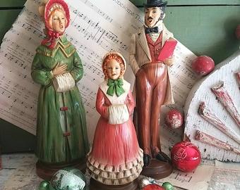 Vintage Singing Christmas Carolers / Vintage Christmas / Christmas Decor / Vintage Figurines / Christmas Carolers / Charles Dickens