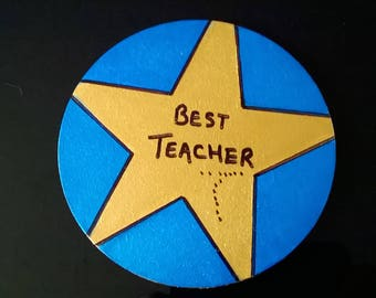 Best Teacher Coaster Gift