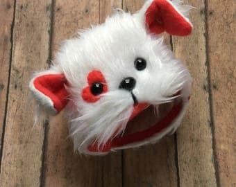 Blythe puppy love helmet, blythe helmet, blythe hat, blythe animal hat, blythe accessory,blythe valentine,