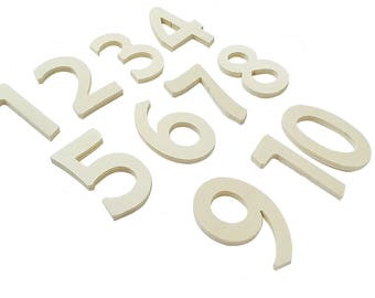 Wooden numbers for DIY 11 PCs