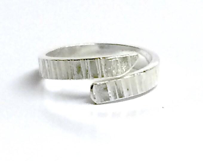 Retro Finish Adjustable Ring