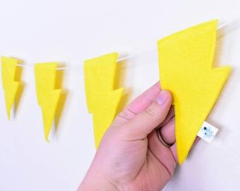 Yellow Lightning Bolt Garland