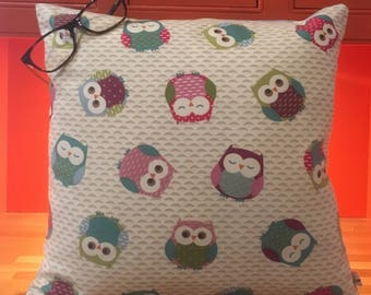 Two Ugly Sisters - Owl cushion complete with feather pad