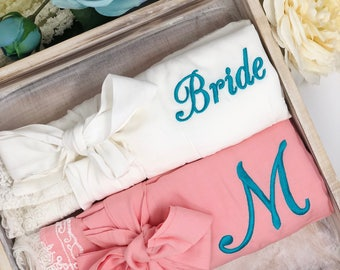 Set of 8 Cotton Lace Robes, custom bridesmaid robes, bridesmaid gifts, bridal robes, wedding gifts, getting ready robes, bridal party robes