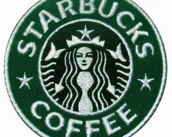 Starbucks Patch Starbucks Iron On Starbucks Birthday Starbucks Gift NOT Starbucks embroidery design Starbucks applique design