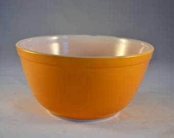 Pyrex Yellow Orange #402 Mixing Bowl