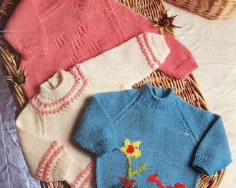 Vintage Knitting Pattern Baby Cardigans  PDF