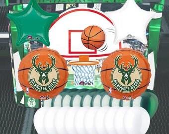 Milwaukee Bucks 25 Piece Balloon Set