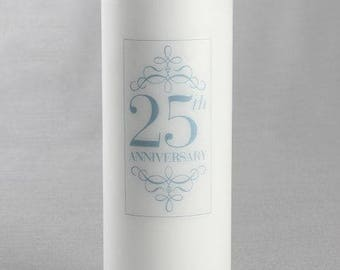 25th Anniversary Pillar Candle