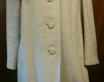 Union Made 1960's Wool fox Fur Collar Coat