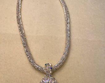Handmade weave herringbone necklace