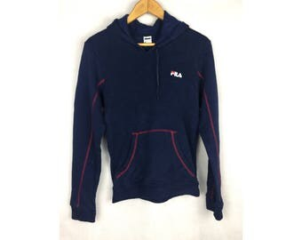 FILA LADIES Long Sleeve Hoodies Sportwear Large Size Hoodies with Small Embroidered Logo