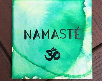 NAMASTÉ | watercolor on 6x6 aquabord