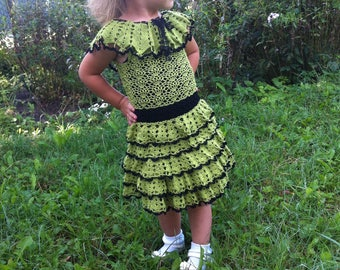 clothes for girl, knitting, knitted dress, dress for girls