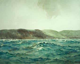 Cecil King (GB 1881-1942) Seascape Watercolor