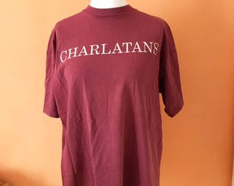 Rare the charlatans t-shirt Red
