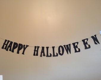 Hotel Transylvania Inspired Happy Halloween Banner- Free Shipping (Halloween, Trick or treat, black and orange, vampire, ghost, dracula)