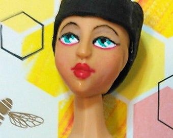 M.Minette: OOAK Tan version, Curvy Custom 1/6 scale Resin Fashion Doll