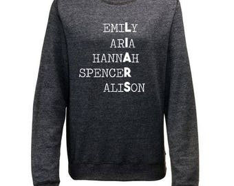 LIARS. Pretty Little Liars Inspired Womens Sweatshirt Womens Gifts PLL Gifts Fangirl Gifts Mum Gifts Christmas Gifts