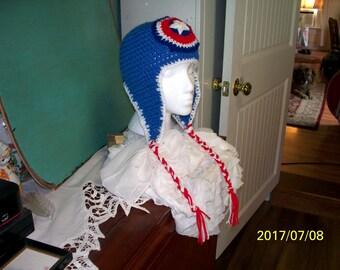 Captian Americian earflap hat