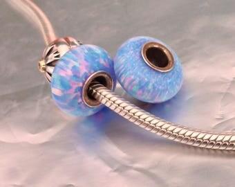 Blue confetti opals