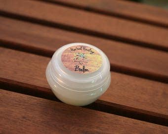 Herbal Healing Balm - All Natural Remedy. For chapped Lips, Insect Bites, Rashes, Eczema, Dry Skin, Psoriasis, Sensitive Baby Skin