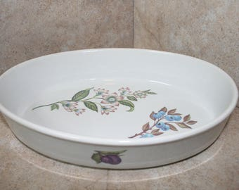 Oval Floral Dish