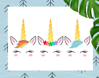 Unicorn horn svg unicorn svg unicorn face svg unicorn eyelashes svg unicorn birthday svg girls svg unicorn head svg ice cream svg lfvs