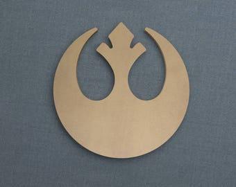 Rebel Alliance Logo, Wood Cutout, Unfinished Sign