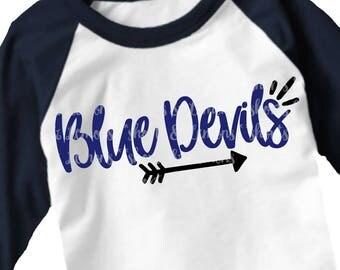 Blue Devils svg, Arrow svg, Devils svg, Cut File, iron on, devils svg, Silhouette, Printable iron on, Digital Download, Cricut, dxf, devils