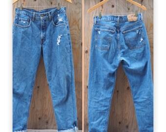 Vintage HIGHWAISTED Real Blue JEANS