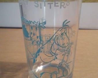 1963 Hanna Barbera Flintstones jelly jar pebbles babysitter