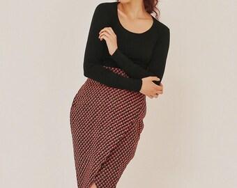 African prints Ankara pencil skirt, women's skirt